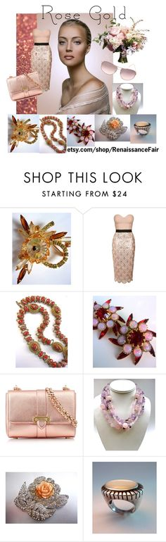 """Rose Gold"" by renaissance-fair ❤ liked on Polyvore featuring Topshop and Aspinal of London"