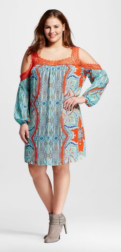 Plus Size Cold Shoulder Printed Dress at Target