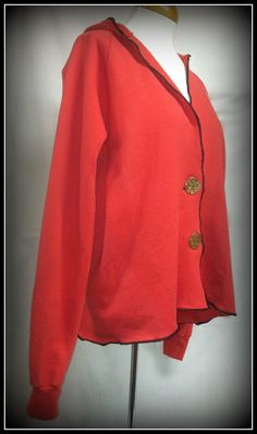 Refashioned Sweatshirt Hoodie Jacket Upcycled by TwiceStitched, $21.00