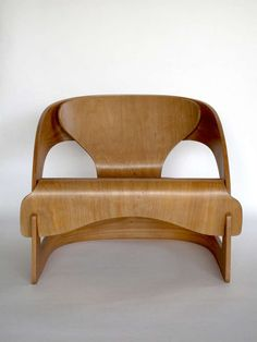 Plywood 4801 lounge chair by Joe Colombo for Kartell image 3