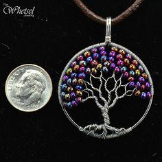 Wire Tree of Life Necklace Pendant Glass Beads - Sterling Silver Pendant - White . - Wire Tree of Life Necklace Glass Bead Pendant – Sterling Silver Pendant – Wire Wrapped Jewelry - Wire Wrapped Pendant, Wire Wrapped Jewelry, Wire Jewelry, Beaded Jewelry, Jewelery, Handmade Jewelry, Geek Jewelry, Gothic Jewelry, Glass Jewelry