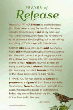 Casting my cares on you. Nightly prayer