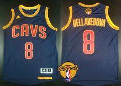Men's Cleveland Cavaliers #8 Matthew Dellavedova 2015 The Finals New Navy Blue Jersey