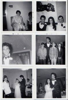 photos of Elvis and Priscilla's 2nd wedding at Graceland.