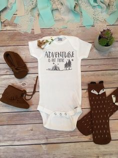 Adventure is Out There Onesie Baby Boy Clothes Baby Shower Gift Cute Onesies Boho Baby Clothes Camping Onesie Hipster Baby Clothes - April 13 2019 at Hipster Baby Clothes, Cute Baby Clothes, Diy Clothes, Clothes Sale, Babies Clothes, Camping Outfits, Camping Packing, Baby Outfits, Boho Baby Kleidung