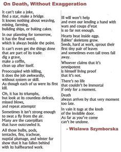writing a curriculum vitae wislawa szymborska poe tic