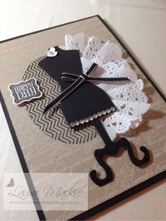 Stampin Up! Ideas & Supplies- I can't remeber if you have the dressform framelits or not. This is super cute, though!