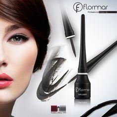 Flormar Black Dipliner Liquid Eyeliner with Long Lasting Colour Perfect Make-Up Eyeliner, Eye Makeup, Hair Beauty, Make Up, Cosmetics, Colour, Black, Different Types Of, Eyes