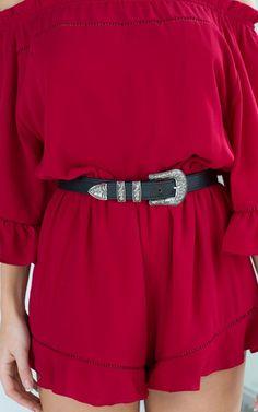 Head On Belt in Black   SHOWPO Fashion Online Shopping