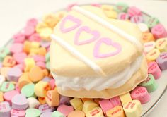 Cookie soap heart sandwich - food soap - white chocolate raspberry - Valentine's Day on Etsy, $7.93 CAD