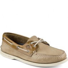 Sperry Mens Sojourn Fabric Slip-On Memory Foam Wave Sipping Loafer Shoes Tan