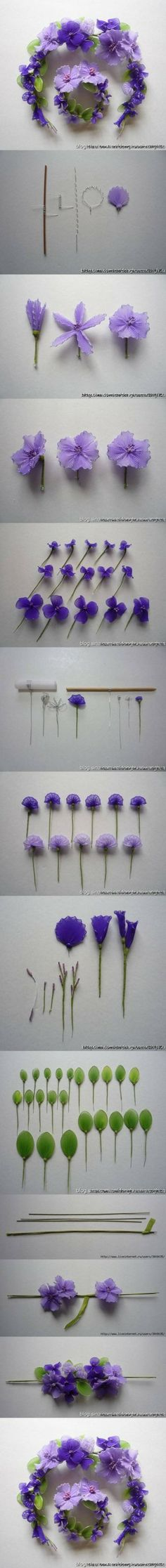 FREE PHOTO TUTORIAL ~ DIY Wire Nylon Flowers DIY Projects