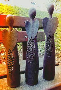 Anděl Noci / Zboží prodejce GMart - Hobbies paining body for kids and adult Ceramics Projects, Clay Projects, Clay Crafts, Ceramic Clay, Ceramic Pottery, Pottery Angels, Clay Angel, Ceramic Angels, Christmas Clay