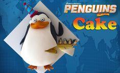 Penguins of madagascar cake tutorial Madagascar Cake, Penguins Of Madagascar, Cake Icing, Eat Cake, Cupcake Cakes, Cookies Cupcakes And Cardio, Fondant, Penguin Cakes, Creative Desserts