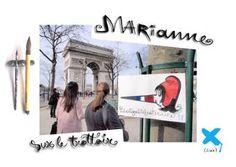 Marianne sur le trottoir