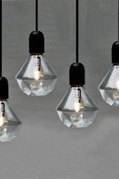 diamond light bulbs, designed by Eric Therner