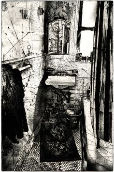"Saatchi+Art+Artist+Michael+Goro;+Printmaking,+""Mirror""+#art"