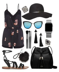 """Playful"" by tasha-m-e ❤ liked on Polyvore featuring Topshop, Kate Spade, Quay, Illamasqua, Boohoo and Dorothy Perkins"