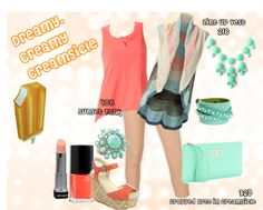 """""""CAbi's Dreamy, Creamy Creamsicle"""" by fashionistaerica on Polyvore"""