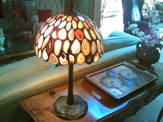 lamp with agates - oooh i like