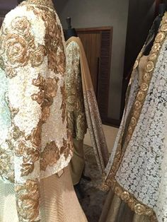 @ManishMalhotra1's #SS15 Ivory & Gold Roses for the #Desi, Indian Bride {at his Flagship Khar Store (Mumbai)} http://www.ManishMalhotra.in/landing/