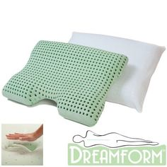 Dream Form Dual Comfort Memory Foam Pillow with Cover * To view further for this item, visit the image link.