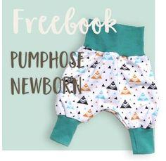 Freebook Pumphose Babys nähen