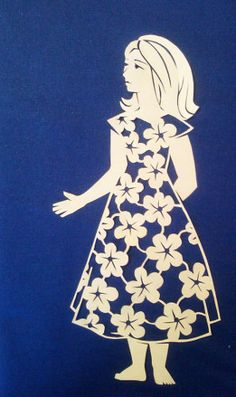 cut paper design Woman in a Flower Dress Scroll Saw Patterns, Cool Patterns, Kirigami, Silhouette Cameo Files, Paper Pot, Laser Paper, Paper Cut Design, Scan And Cut, Paper Cutting