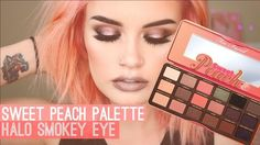TOO FACED SWEET PEACH PALETTE | HALO SMOKEY EYE