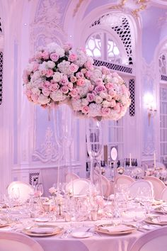 """Purple Wedding Flowers Stunning image of wedding flowers by Javier Salvador. Photo by Catherine Mead - """"Stunning image of wedding table arrangement created by Quinceanera Centerpieces, Quinceanera Decorations, Wedding Reception Decorations, Wedding Themes, Wedding Centerpieces, Wedding Table, Candy Centerpieces, Quinceanera Ideas, Quince Centerpieces"""