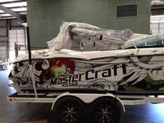 sirlin flying skull XSTAR for Mexico 2012 #sirlin #XSTAR #mastercraft #boats #wraps