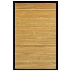 Namaste Rayon from Bamboo Rug with Black Border (4' x 6')