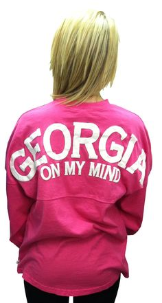 "Georgia+Spirit+Jersey.+""Georgia+on+my+Mind.""+100%+cotton.+Generous+fit. $39.99"