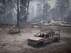 PHOTOS. Incendies en Californie : des paysages apocalyptiques - Près de San Andreas - septembre 2015