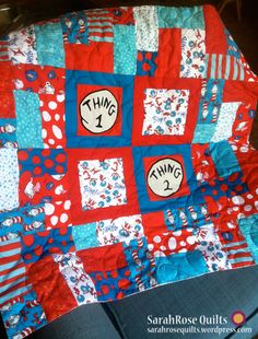 Thing 1 and Thing 2 Scrappy Block Quilt from SarahRose Quilts with a wonderful tutorial.