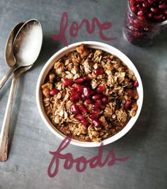 Maple Baked Oatmeal with Pomegranate