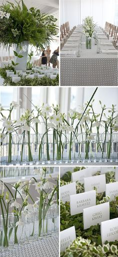 nice setting up for the decor of table...  could put each of them on the table and and a name tag in it...