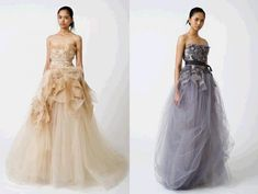 2e55238640f9 Daring 2011 Vera Wang wedding dresses- blush, nude, grey and purple hues,  clouds of tulle
