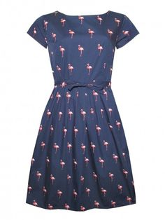 Funky Flamingo dress by Run & Fly from www.thunderegg.co.uk  Stand out in this fabulous outfit! <3