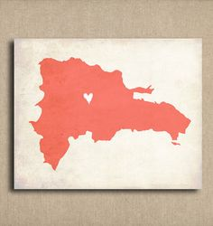Dominican Republic Love Country Customizable Art