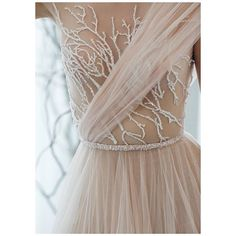 : Made to perfection, details of our Mimosa gown.