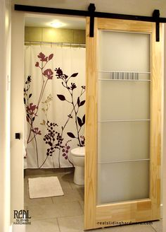 Space saving sliding barn door.