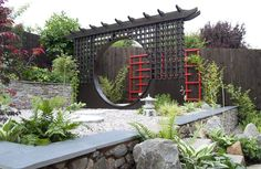 Japanese-inspired garden design in Rothley, Leicestershire, UK.  © Lush Landscape & Garden Design Ltd 2014