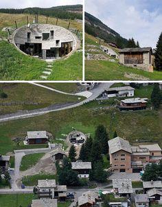 build underground into a hill