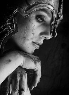 This is beautiful Girl Face, Woman Face, Athena Tattoo, Viking Warrior Woman, Valkyrie Tattoo, Muster Tattoos, Mythology Tattoos, Viking Art, Viking Tattoos