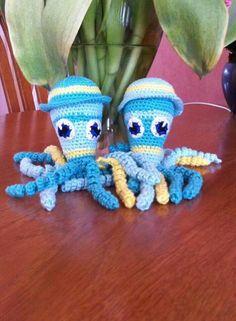Deze 2 inktvisjes zij  gemaakt door Carin van Valen.