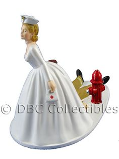 Nurse With Bag Bride Dragging Firefighter Groom