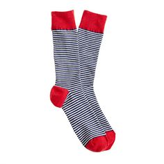 J.Crew - Thin-stripe ribbed socks