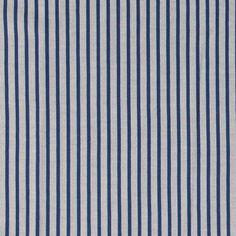 Jacquard garnfarget blå/hvit stripe