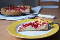 Cheese cake with red currants. Easy and yummy recipe!